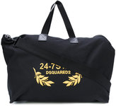 DSQUARED2 24-7 embroidered duffel bag - men - Cotton/Leather/Polyester - One Size