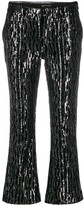 Zadig & Voltaire Zadig&Voltaire Polis sequin cropped flared trousers