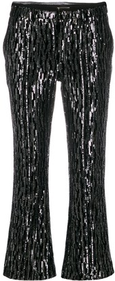 Zadig & Voltaire Polis sequin cropped flared trousers