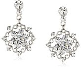Nina 'Luanne' Crystal Medallion Drop Earrings