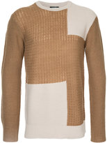 GUILD PRIME panelled crew neck jumper