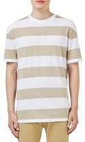 Topman Men's Stripe Step Hem T-Shirt