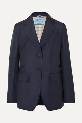 Prada Mohair And Wool-blend Blazer - Navy