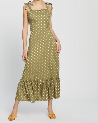 Dorothy Perkins Spot Tie Shoulder Sun Dress