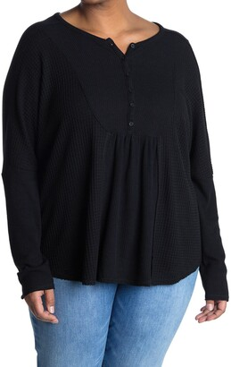 Gibson Mixed Rib Knit Henley