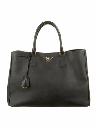 Prada Saffiano Lux Shopping Tote Black