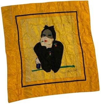 Van Cleef & Arpels Yellow Silk Silk handkerchief