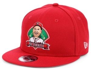 New Era Big Boys Max Scherzer Washington Nationals Lil Player 9FIFTY Snapback Cap