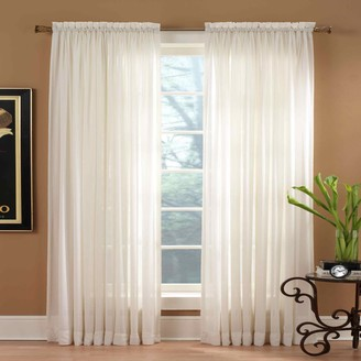 Miller Curtains 1-Panel Solunar Crushed Voile Window Curtain