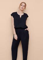 Violeta BY MANGO Long Chest-Pocket Jumpsuit