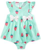 First Impressions Strawberry-Print Cotton Skirted Romper, Baby Girls (0-24 months)