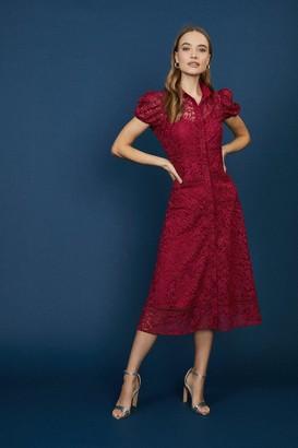 Coast Lace Midi Shirt Dress