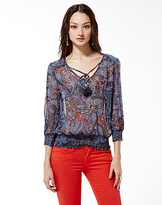 Lucky Brand Palisades Zuniga Paisley Top