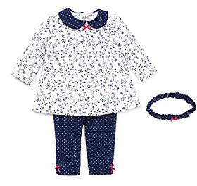 Little Me Baby Girls' Navy Blue Daisy Vine Tunic Set