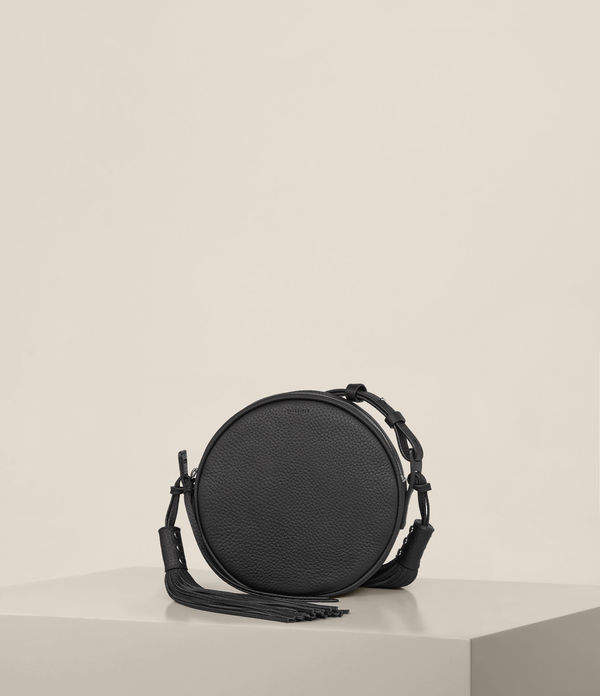AllSaints Kepi Leather Round Crossbody Bag