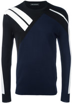 Neil Barrett contrast stripe jumper - men - Nylon/Viscose - S