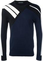 Neil Barrett contrast stripe sweatshirt - men - Nylon/Viscose - S