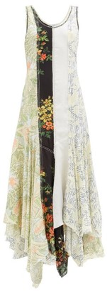 J.W.Anderson Handkerchief-hem Patchwork Maxi Dress - Multi