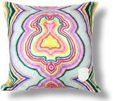 Kristi Kohut Funky Agate 18x18 Linen Pillow