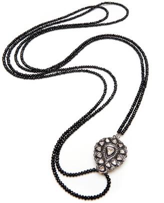 Kaizarin Romantic Victorian Inspired Diamond & Spinel Necklace