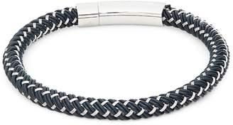 Tateossian Stainless Steel & Rubber Bracelet