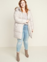 Old Navy Frost-Free Hooded Plus-Size Long-Line Puffer Jacket