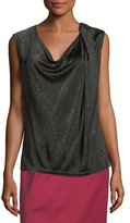 Escada Draped Lurex Knit Tank Top