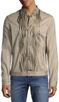 Roberto Cavalli Men's Woven Snap Front Jacket