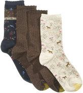 Gold Toe Women's 4-Pk. Deer & Bird Socks