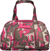 Lug Pink Camouflage Quilted-Accent Propeller Duffel Bag