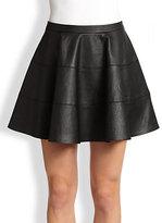 Autograph Addison Calle Faux Leather Paneled Circle Skirt
