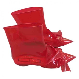 N°21 N21 Red Plastic Ankle boots