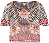 Temperley London Belle Embroidered Cropped Top