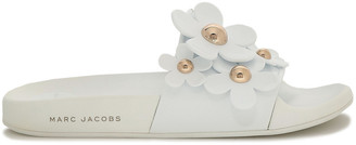 Marc Jacobs Floral-appliqued Rubber Slides