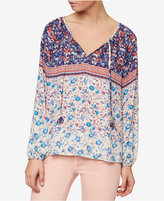 Sanctuary Ivy Printed Peasant Top