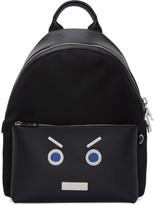 Fendi Black Faces Backpack