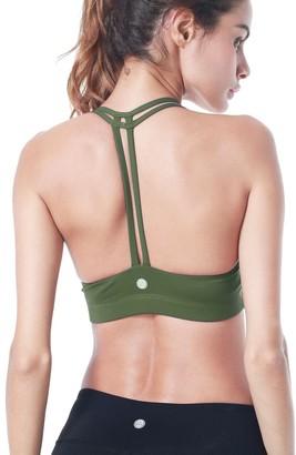 QUEENIEKE Women's Light Support Cross Back Wirefree Pad Yoga Sports Bra
