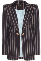 Marc Jacobs Striped Denim Blazer