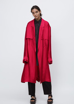 Haider Ackermann messier raspberry trench coat