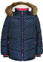 John Lewis Girls' Fleece Lined Spot Coat, Navy
