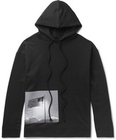 Raf Simons Robert Mapplethorpe Foundation Printed Loopback Cotton-Jersey Hoodie