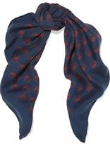 Gucci Printed Washed Silk-twill Scarf