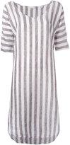 Xacus striped dress - women - Linen/Flax - 42