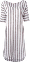 Xacus striped dress - women - Linen/Flax - 46
