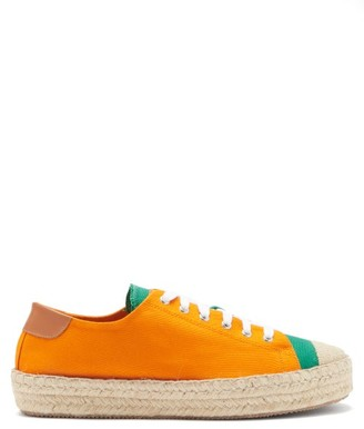 J.W.Anderson Canvas Low-top Espadrille Trainers - Orange