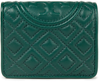Tory Burch Embossed Quilted Leather Wallet