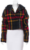 Barbara Bui Leather-Trimmed Wool Jacket w/ Tags