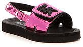 MICHAEL Michael Kors Girls' Eli Infant Slip-On Rubber Slide