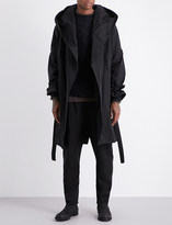 Isabel Benenato Hooded oversized twill coat