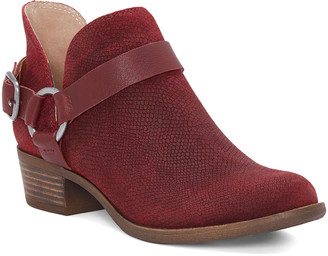 Lucky Brand Women's Casual boots DARK - Dark Red Bernaeh Leather Ankle Boot - Women
